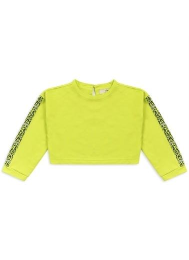 Panço Kız Çocuk Sweatshirt 2111GK08025 Sarı